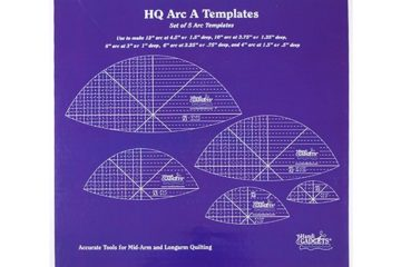 Arc A 12″, 10″, 8″, 6″, 4″ (Box Set of 5 templates)