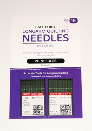 Longarm Ball Point Needles (2 x 10 packs)