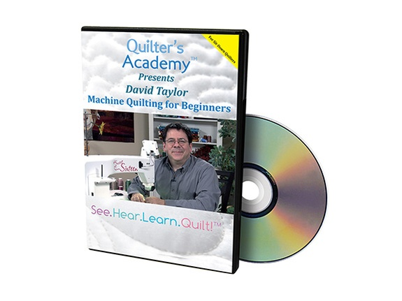 HQ DVD Machine Quilting for Beginners – David Taylor (Sweet 16)