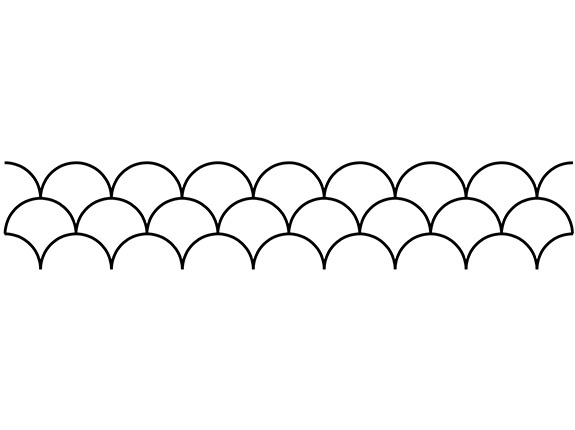 Groovy Board – Shells 10″ x 24″