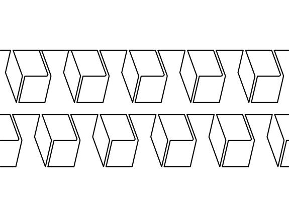 Groovy Board – Block Squared 10″ x 24″