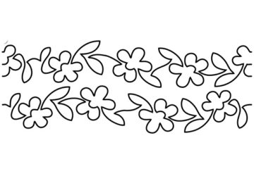 Groovy Board – Flowers on Parade 10″ x 24″