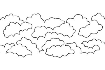 Groovy Board – Lofty Clouds 10″ x 24″