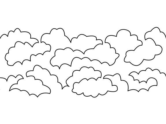 Groovy Board – Lofty Clouds 10″ x 24″