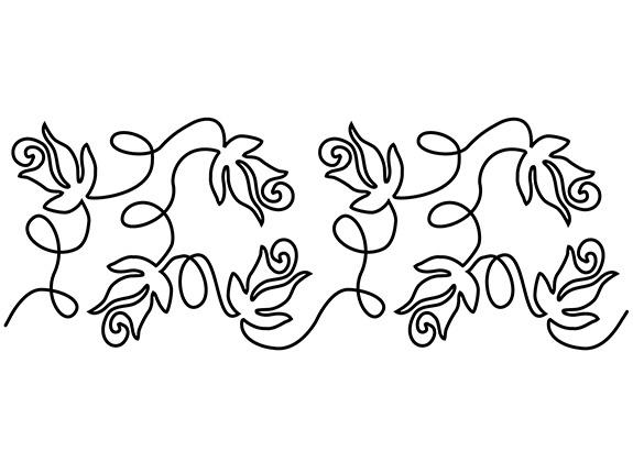 Groovy Board – Rose Garden 10″ x 24″