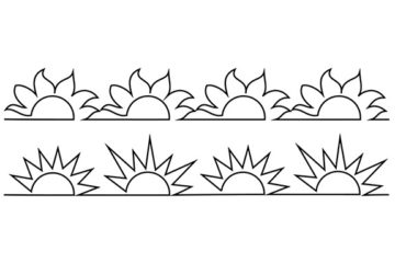 Groovy Board – Suns and Sunflowers 10″ x 24″