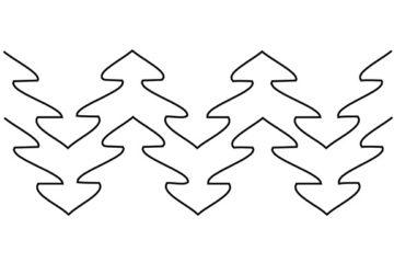 Groovy Board – Trees 10″ x 24″