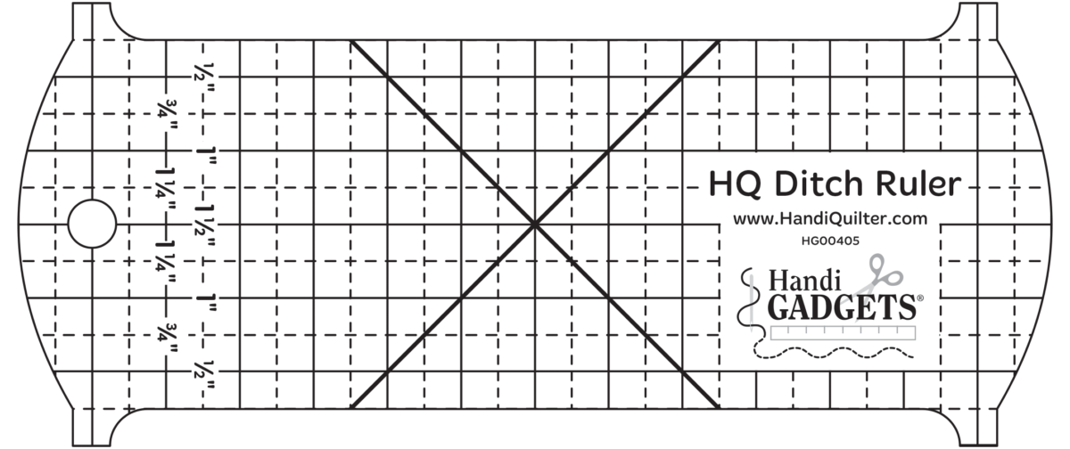 Rom 1 Ditch Ruler Handi Quilter